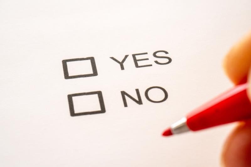 YES_NOのチェックボックスと赤ペン