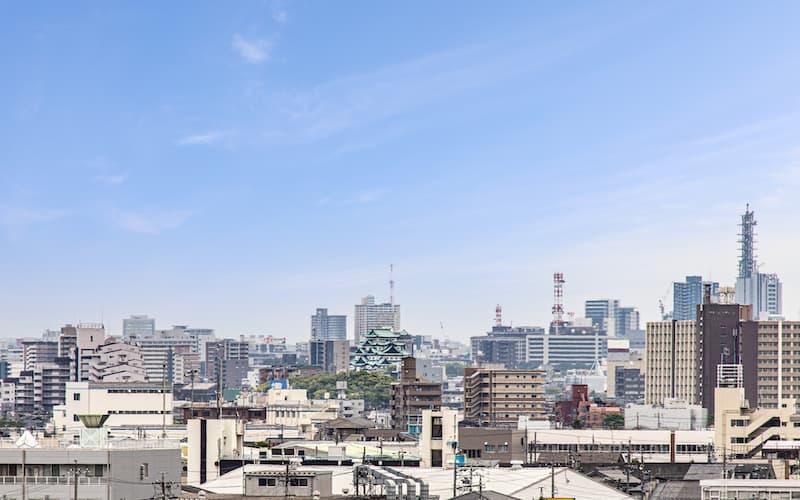 清州城天守閣から見る名古屋城